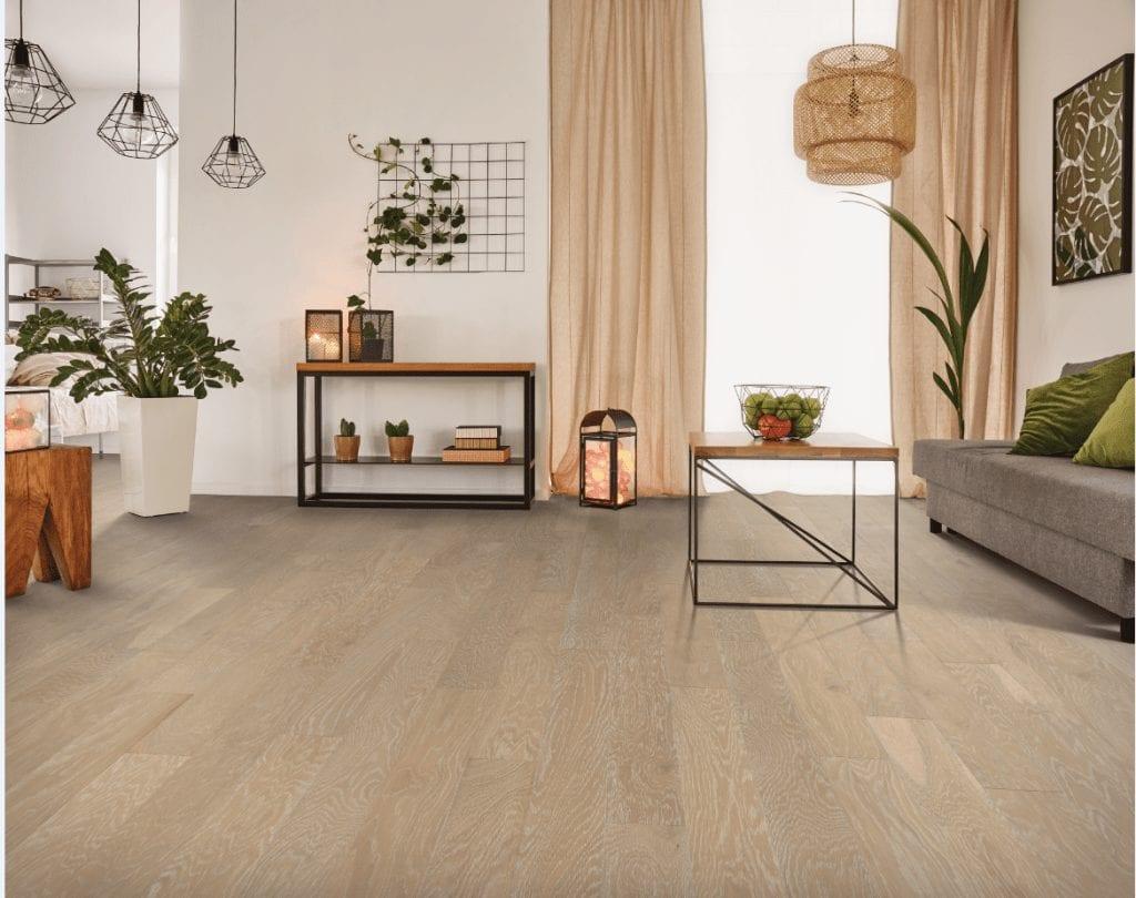 Hardwood floor of Living room | Choice Floor Center, Inc.