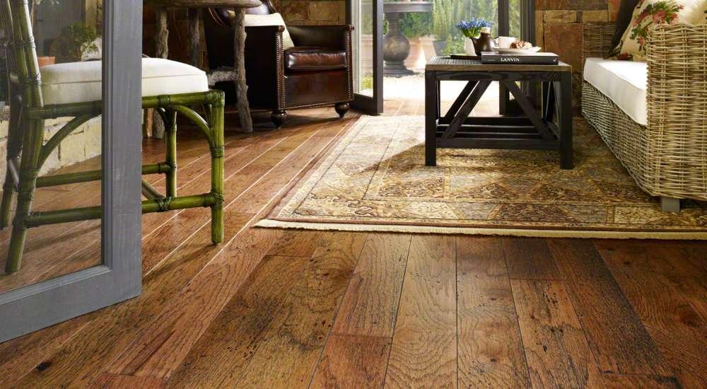 Hardwood floor design of living room | Choice Floor Center, Inc.